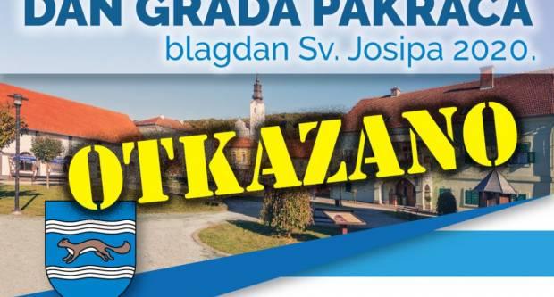 Otkazana sva događanja u povodu obilježavanja Dana Grada Pakraca!!