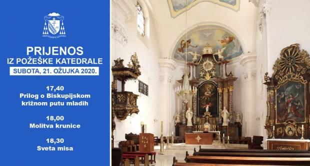 Požeška biskupija i večeras prenosi misu uživo na svom portalu i Facebook-u