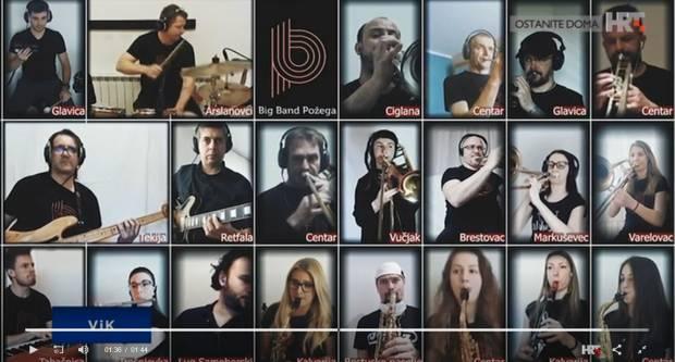 Članovi Big benda Požega virtualnom jazz razglednicom proslavili 9. rođendan