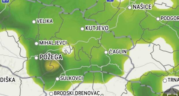 Olujno nevrijeme pogodilo sjever Hrvatske, a premjestilo se i iznad Slavonije