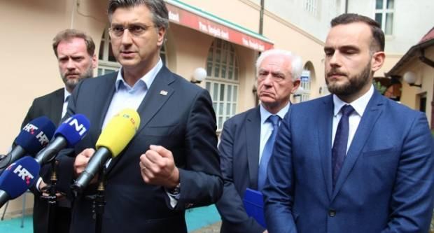 Predsjednik Vlade RH i HDZ-a Andrej Plenković nazočio sjednici Predsjedništva ŽO HDZ požeško-slavonskog i progovorio o predstojećim izborima za Sabor RH