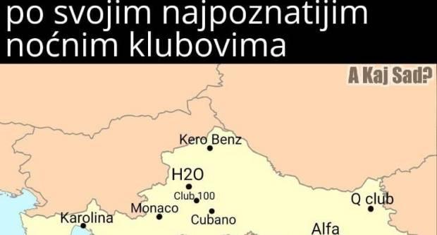 Ovako bi se zvali hrvatski gradovi da su dobili imena svojih najpoznatijih noćnih klubova