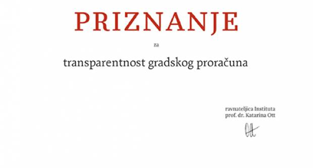 "Slavonski Brod ponovno ""izvrstan"" po pitanju transparentnosti proračuna"