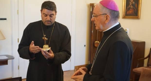 Biskup Škvorčević primio o. Kirku Velinskoga iz Makedonske pravoslavne Crkve
