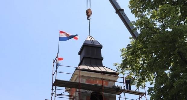 Postavljen toranj na novoj crkvi u Donjem Čagliću