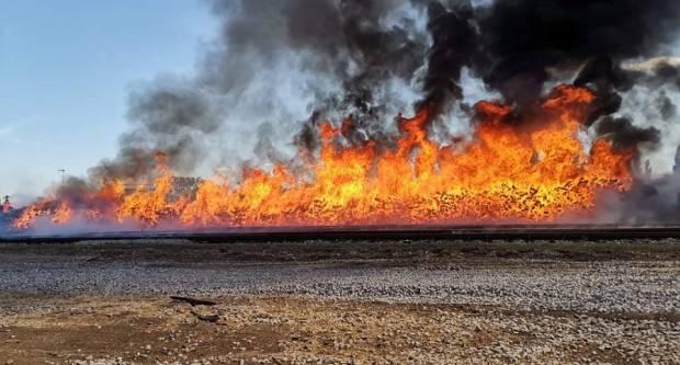 BOROVO: Požar je bio izuzetno zahtjevan zbog velikog isijavanja topline