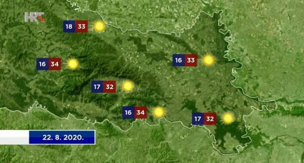 Još danas sunčano i vruće, a zatim slijedi pogoršanje