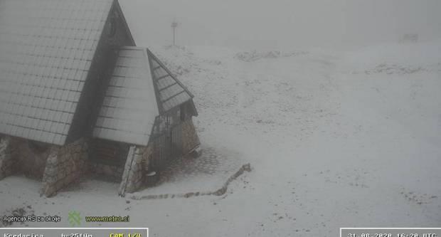 U Sloveniji pao prvi snijeg!
