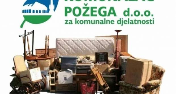 Komunalac Požega d.o.o. kreće s odvozom glomaznog otpada