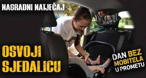 Prijavite se na natječaj i osvojite auto sjedalicu u sklopu projekta Dan bez mobitela u prometu