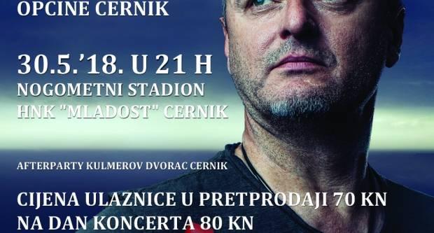 Marka Perkovića Thompsona na stadionu HNK ʺMladostʺ U Cerniku