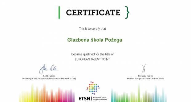 Požeška Glazbena škola i službeno postala Europska točka za darovite