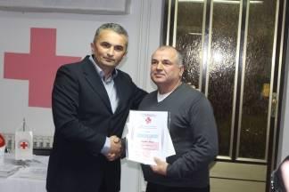 Dodijeljena priznanja i diplome vjernim darivateljima krvi, Šojat Zdenko darovao krv 134 puta